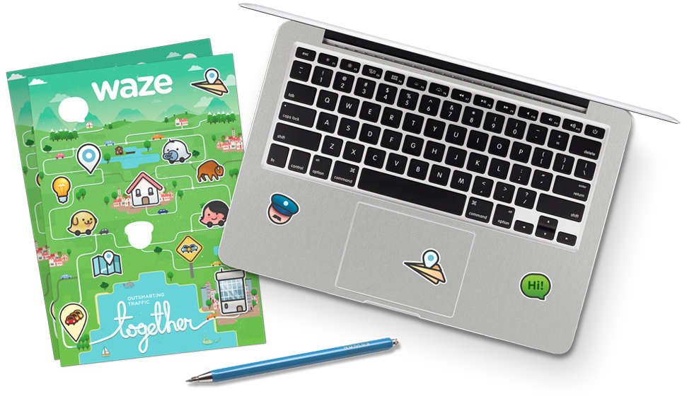 waze stickers